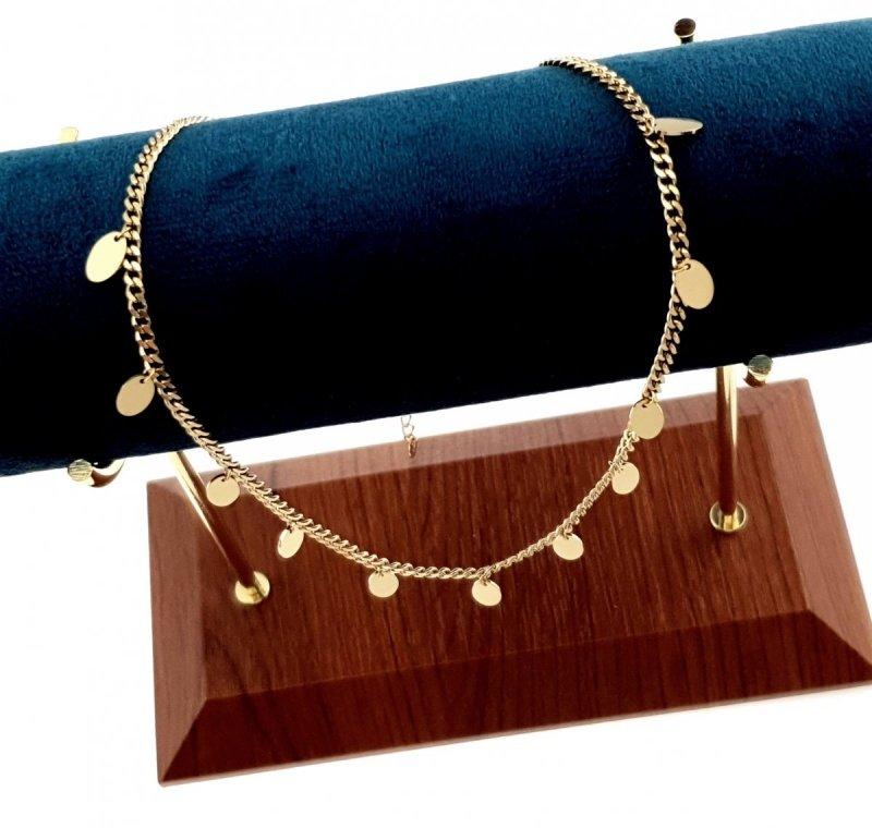 976 Złoty łańcuszek celebrytka naszyjnik stal chirurgiczna