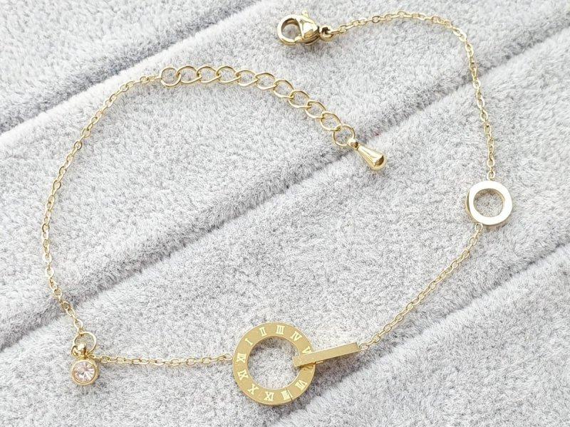 1735 Bransoletka złota celebrytka stal chirurgiczna