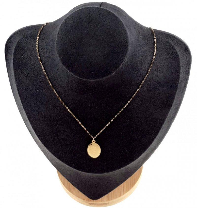 1911 Złoty łańcuszek celebrytka 43cm naszyjnik stal chirurgiczna