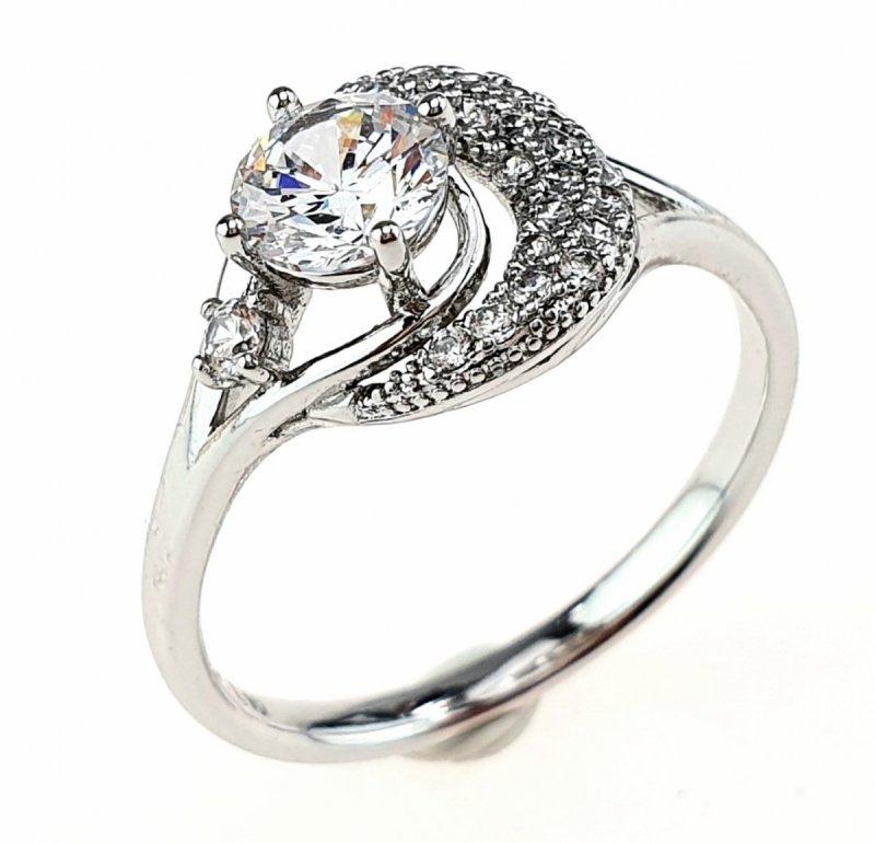 1599k Pierścionek 18,60mm srebrny zaręczynowy Xuping