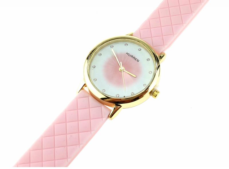39A Damski zegarek złoty gumowy KURREN