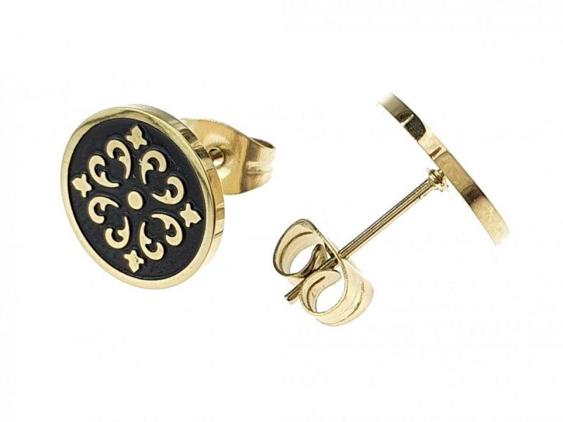 1866 Kolczyki celebrytki złote stal chirurgiczna