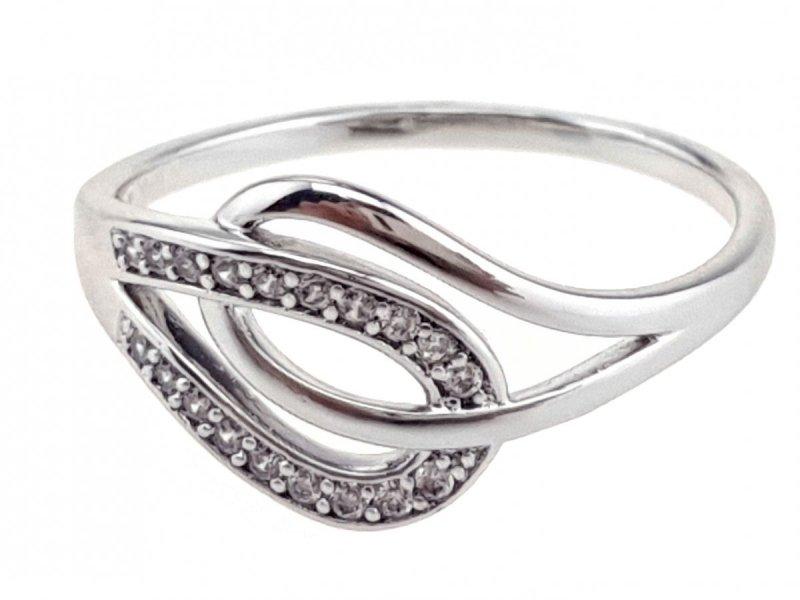 3726d Pierścionek 19,60mm srebrny zaręczynowy