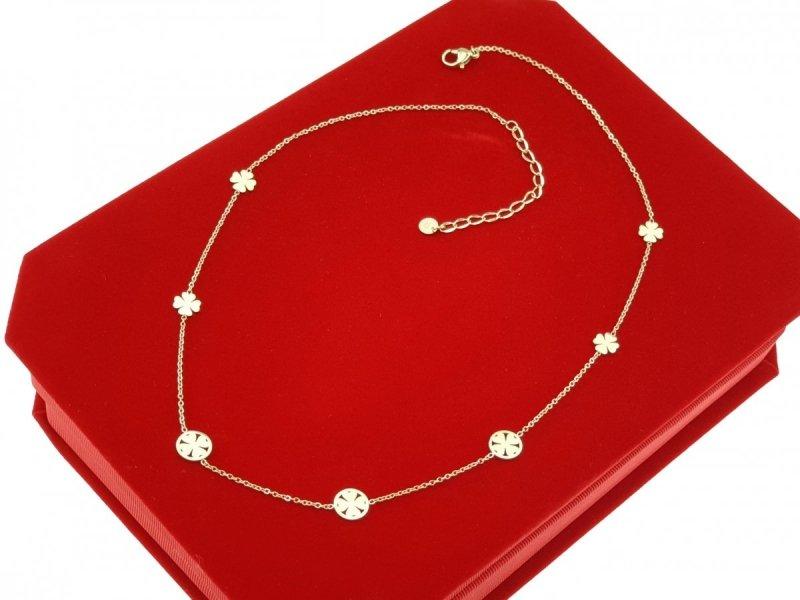 1194b Złoty łańcuszek celebrytka naszyjnik stal chirurgiczna