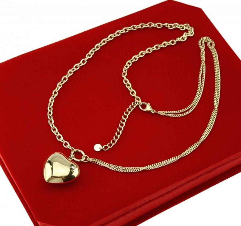 3006 Złoty łańcuszek celebrytka naszyjnik stal chirurgiczna