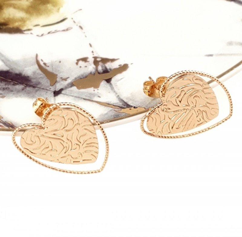 3859 Ekskluzywne kolczyki złote pozłacane Xuping