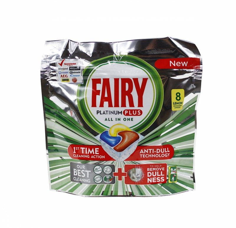 Fairy Platinum Plus Lemon kapsułki do zmywarki 8 szt.