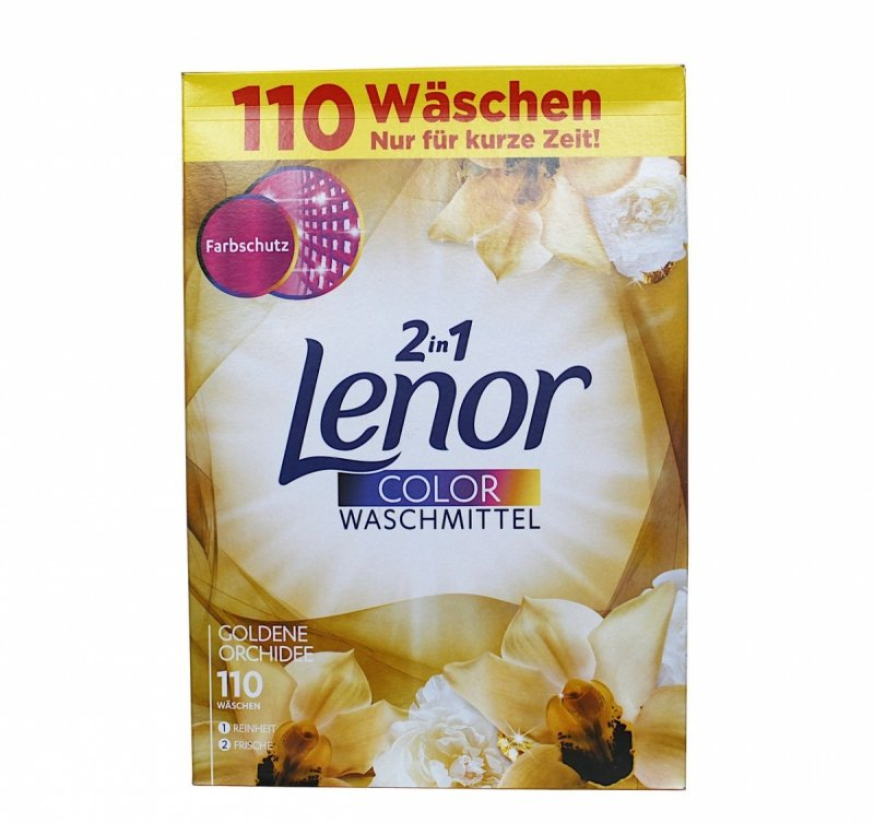 Lenor 2in1 Color Goldene Orchidee proszek 110 prań 7,15 kg