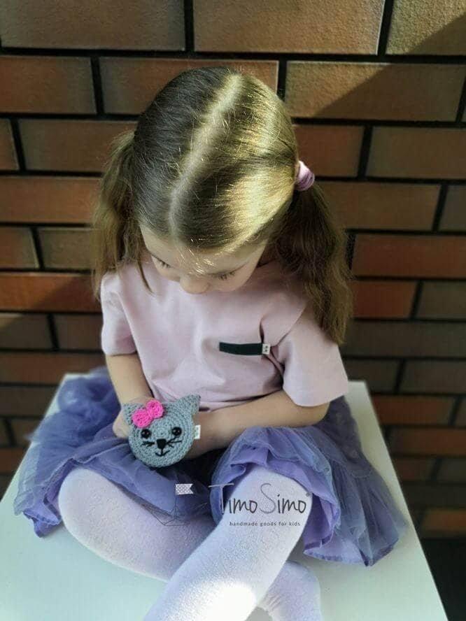 Koszulka dla dziewczynki z wymienną aplikacją 2 w 1