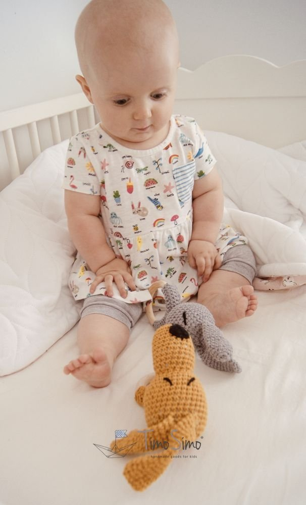A rattle-teether for a baby
