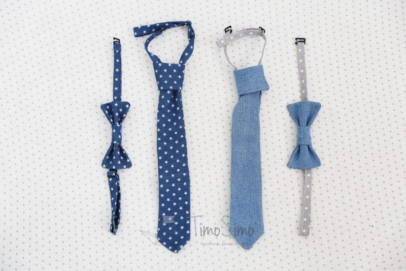 Dżinsowy krawat