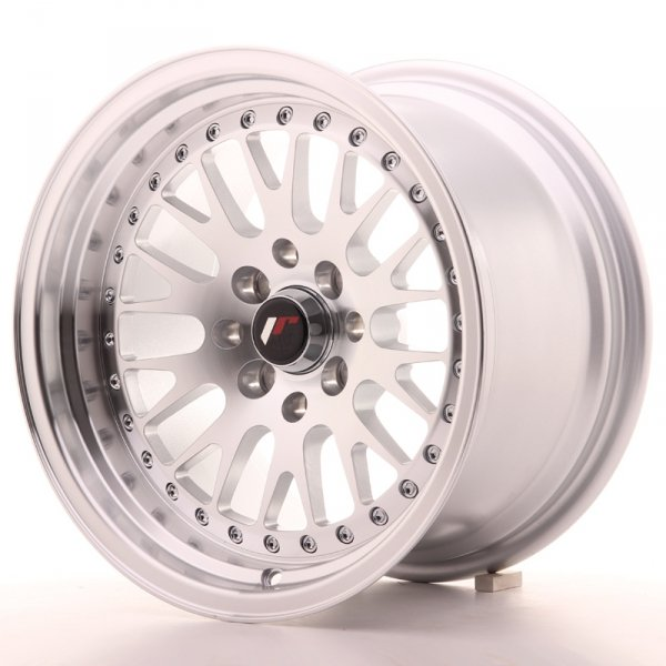 Japan Racing JR10 15x9 ET0 4x100/114 Machined Sil