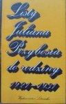 opr. Adam Przyboś • Listy Juliana Przybosia do rodziny 1921-1931