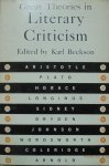 Edited by Karl Beckson • Great Theories in Literary Criticism