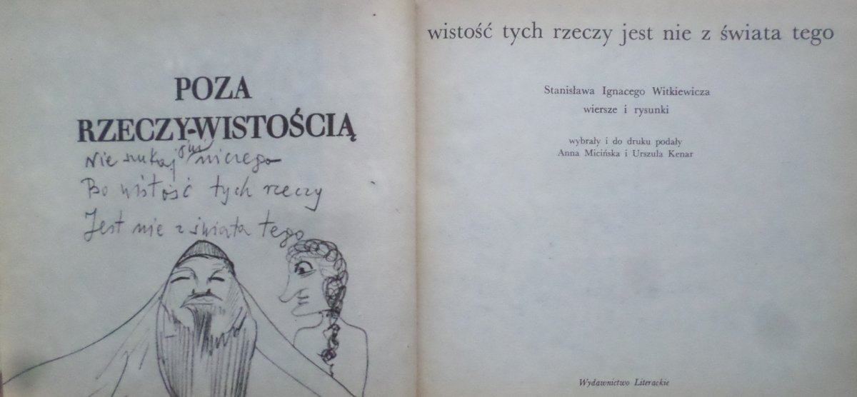 Stanisław Ignacy Witkiewicz Witkacy Poza Rzeczywistością