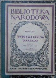 Xenofont [Ksenofont] • Wyprawa Cyrusa (Anabaza) 1924