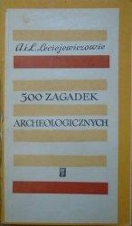 Anna i Lech Leciejewiczowie • 500 zagadek archeologicznych