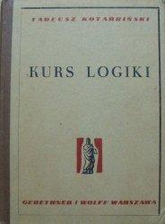 Tadeusz Kotarbiński • Kurs logiki dla prawników