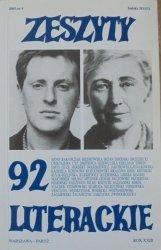 Zeszyty Literackie numer 92/2005 [Josif Brodski, Zbigniew Herbert]
