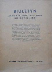 Biuletyn Żydowskiego Instytutu Historycznego 19-20/1956