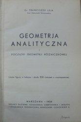 Dr. Franciszek Leja • Geometria analityczna i początki geometrii różniczkowej [1934]