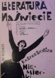 Literatura na świecie 10/1983 • [Ekspresjonizm niemiecki, Musil, Trakl]