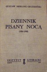 Gustaw Herling-Grudziński • Dziennik pisany nocą 1984-1988 [autograf autora]