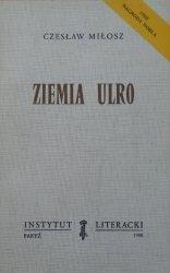 Czesław Miłosz • Ziemia Ulro [Instytut Literacki, Paryż 1980]