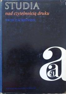 Bror Zachrisson • Studia nad czytelnością druku