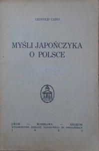 Leopold Caro • Myśli Japończyka o Polsce [1927]
