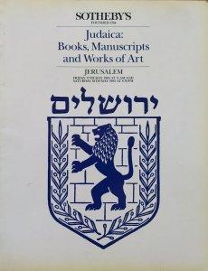 Judaica: Books, Manuscripts and Works of Art • katalog aukcji Sotheby's Jerusalem 1985