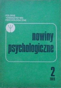 Nowiny psychologiczne 2/1989 • [psychoterapia, schizofrenia, choroba nowotworowa]