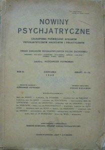 Nowiny psychjatryczne III-IV/1926