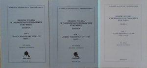 Stanisław Grzeszczuk, Danuta Hombek • Książka polska w ogłoszeniach prasowych XVIII wieku. Źródła. Gazeta Warszawska 1774-1800 [komplet]