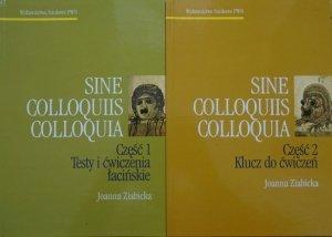 Sine Colloquiis Colloquia część 1 i 2. Teksty i ćwiczenia łacińskie. Klucz do ćwiczeń
