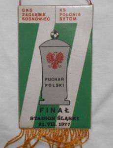 Proporczyk • GKS Zagłębie Sosnowiec - KS Polonia Bytom 1977