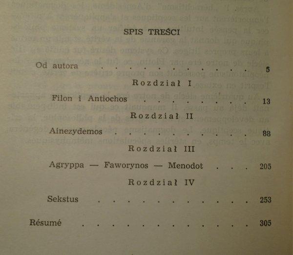 Adam Krokiewicz • Sceptycyzm grecki od Filona do Sekstusa