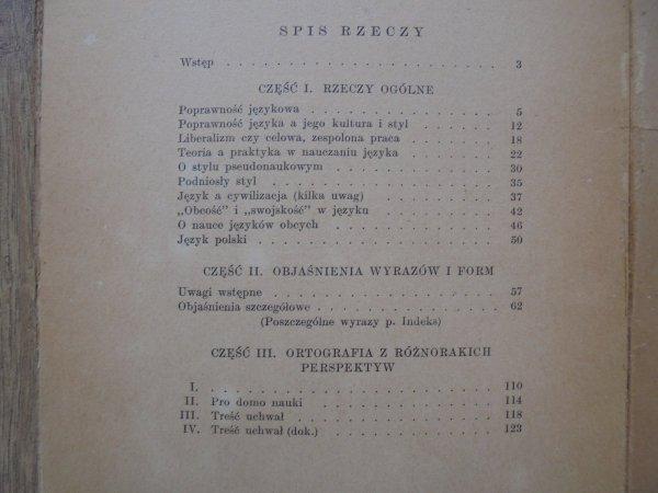 Dr Witold Doroszewski • Myśli i uwagi o języku polskim