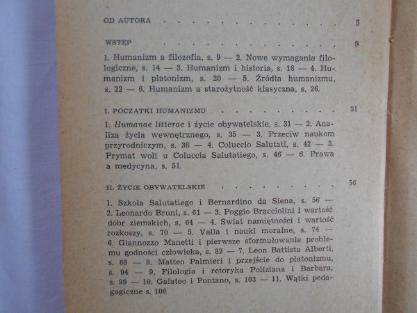 Eugenio Garin • Filozofia odrodzenia we Włoszech