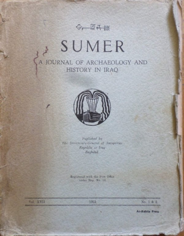 Sumer. A Journal of Archeology and History in Iraq. Archeologia, Irak