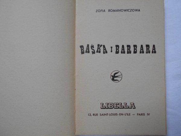 Zofia Romanowiczowa • Baśka i Barbara okł. Szomański