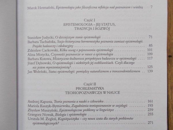 red. Marek Hetmański • Epistemologia współcześnie