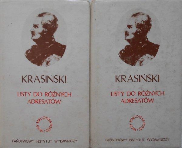 Zygmunt Krasiński • Listy do różnych adresatów