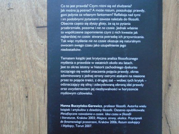 Hanna Buczyńska-Garewicz • Prawda i złudzenie. Eseje o myśleniu