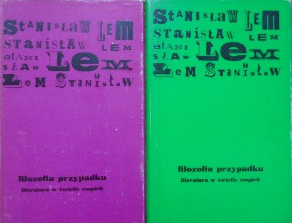 Stanisław Lem • Filozofia przypadku [komplet]