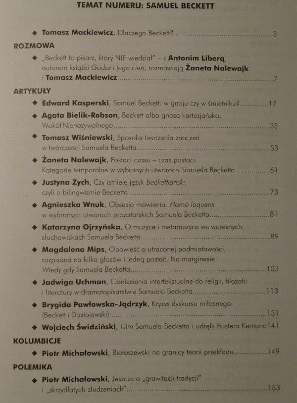Tekstualia 1/2010 • temat numeru: Samuel Beckett
