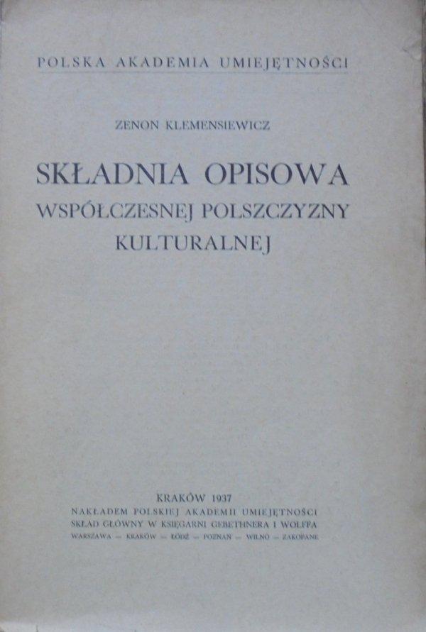 Zenon Klemensiewicz • Składnia opisowa współczesnej polszczyzny kulturalnej