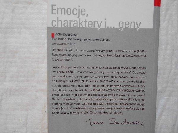 Jacek Santorski, Katarzyna Niemczycka • Emocje, charaktery i geny