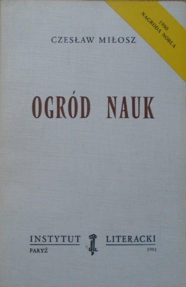 Czesław Miłosz • Ogród nauk [Instytut Literacki 1981]