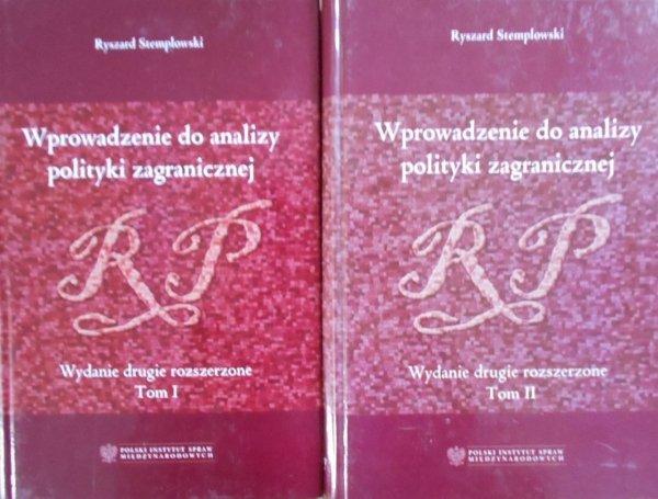 Ryszard Stemplowski • Wprowadzenie do analizy polityki zagranicznej